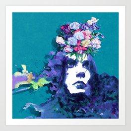 Flower man Art Print