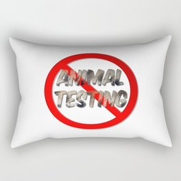 No Animal Testing Sign Rectangular Pillow