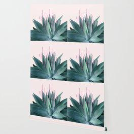 Agave geometrics II - pink Wallpaper