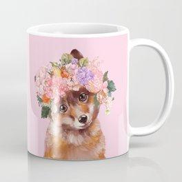 Baby fox with Flower Crown Coffee Mug