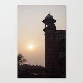 Indian Sunset at the Taj. Canvas Print