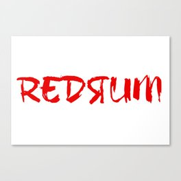 Shining Redrum Canvas Print