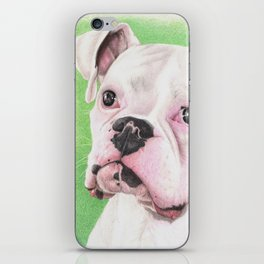 The White Boxer iPhone Skin