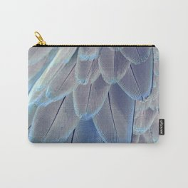 Silver Feathers Carry-All Pouch