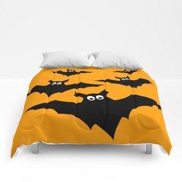 Cool cute Black Flying bats Halloween Comforters