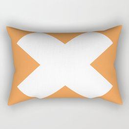 X WHITE Rectangular Pillow