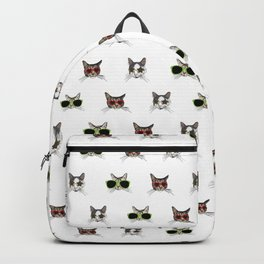 Cats Wearing Sunglasses Pattern Backpack
