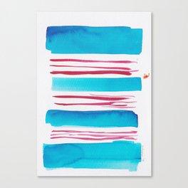 11  |181026 Lines & Color Block | Watercolor Abstract | Modern Watercolor Art Canvas Print