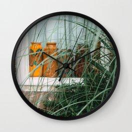 Window art color | bottles | details Utrecht street photography  Wall Clock