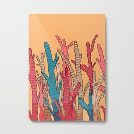 The tall coral Metal Print