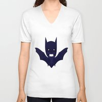 bat man V-neck T-shirts featuring bat by Nir P
