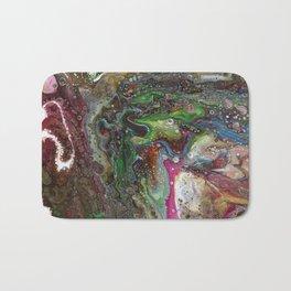Fluid Acrylic VI - Original, abstract, textured fluid pour painting Bath Mat