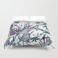 chemistry Duvet Covers featuring Rest My Chemistry by Hannah Jane Humes