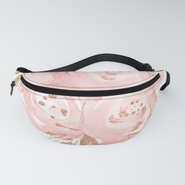 Roses Rose Gold Glitter Pink by Nature Magick Fanny Pack
