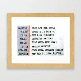 Concert Ticket Stub - Jennifer Nettles Framed Art Print