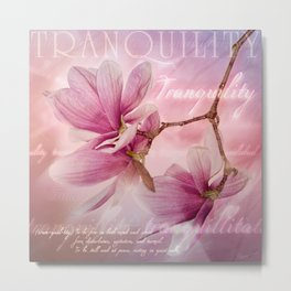 Tranquility - Magnolia Flower (Creative Collection) Metal Print