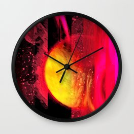Saturn Inverted Wall Clock