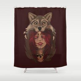Wolf Woman Shower Curtain