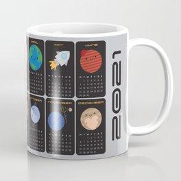 Say Hello to the Solar System 2021 Calendar Coffee Mug
