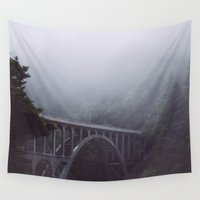 fog Wall Tapestries featuring Fog by Julia Fletcher Photography