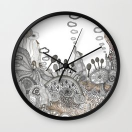 """Brown"" illustration Wall Clock"