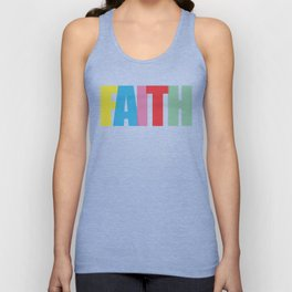 Faith (Color) Unisex Tank Top