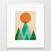 high Framed Art Prints featuring No mountains high enough by Picomodi