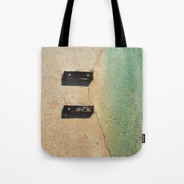 Blue on Wall Tote Bag
