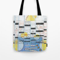 guitar Tote Bags featuring Guitar by Nimai VandenBos