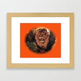 Season Of the Big Cat - Lion Through the Lens Framed Art Print