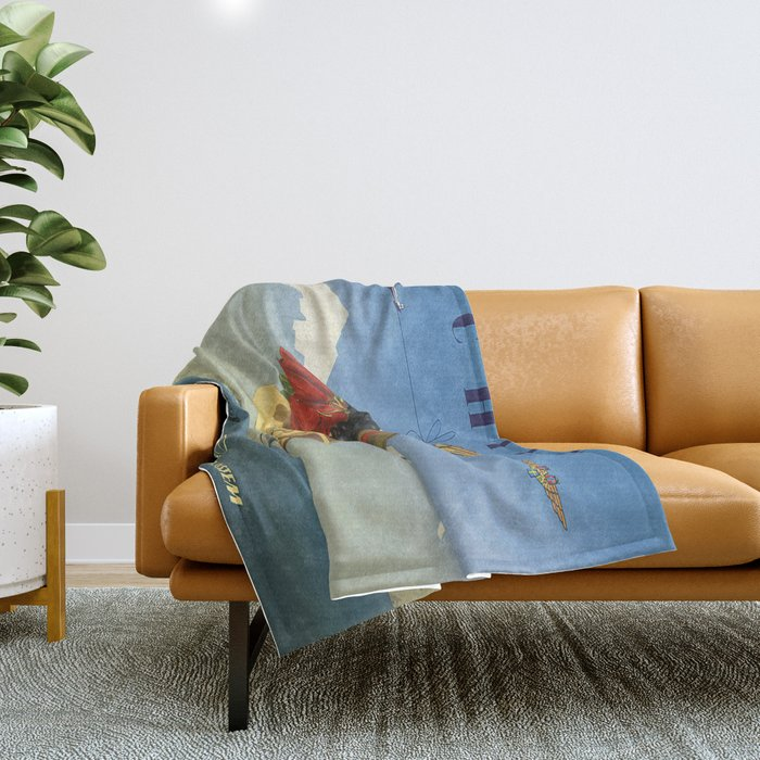 Vintage poster - Chile Throw Blanket