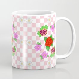 Pixel Flower Pattern Coffee Mug