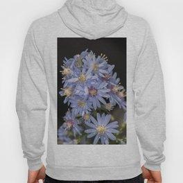 Tiny Blue Aster Flowers portrait Hoody
