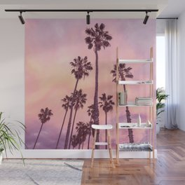 Palms to Pink World Wall Mural