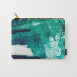 Teal Abstract Art, Teal Print, Teal Wall Art, Sea Green Printable Art, Teal Watercolor ,Abstract Wat Carry-All Pouch