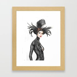 Black Feathers Framed Art Print