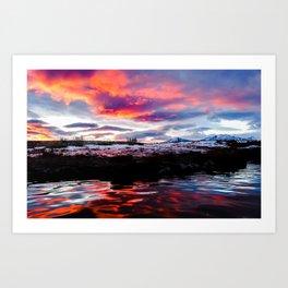 Hot Spring Sunrise Art Print