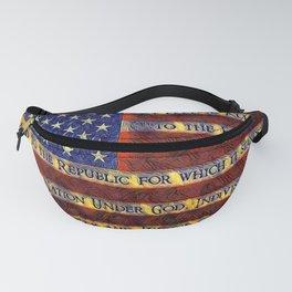 American Flag I Pledge Allegiance Fanny Pack