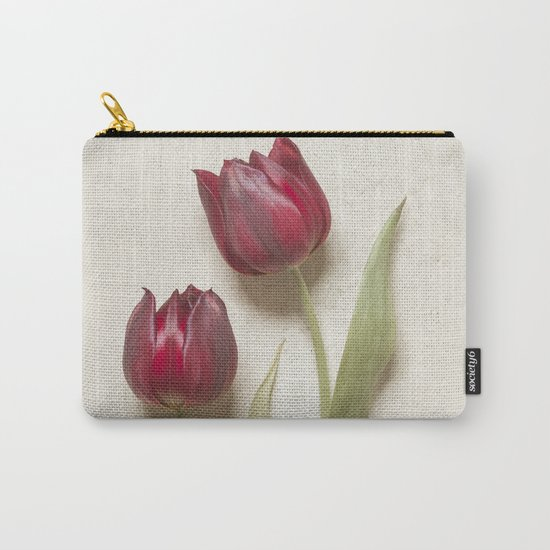 Two Red Tulips II Carry-All Pouch