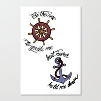 larry stylinson Canvas Prints featuring Helm and Anchor. (Larry Stylinson) by Arabella