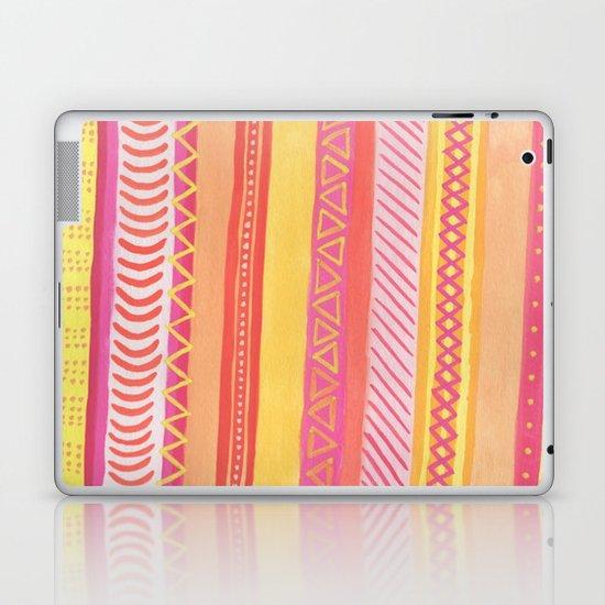 Tribal#1 (Orange/Pink/Yellow) Laptop & iPad Skin
