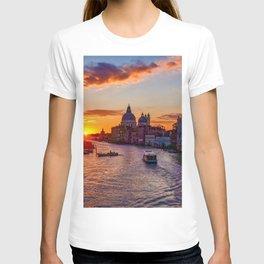 Sunset River City (Color) T-shirt