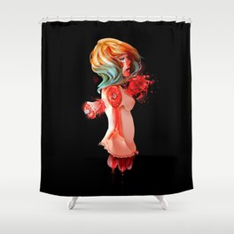 Heart Wrenching Shower Curtain