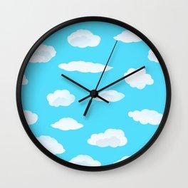 Pillowy Clouds Wall Clock