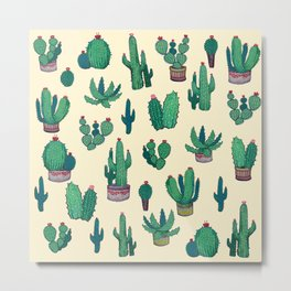 acrylic cactus! Metal Print