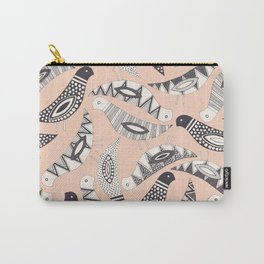 scatter birds pale peach Carry-All Pouch