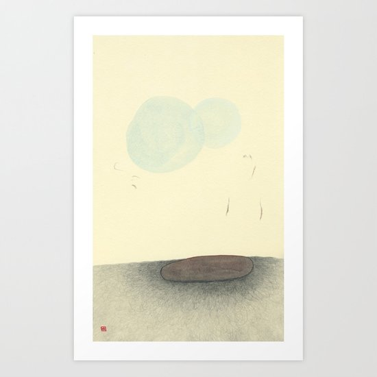 Hover In Blue Art Print