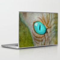 sphynx Laptop & iPad Skins featuring Sphynx Stare by Bruce Stanfield