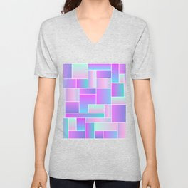 Abstract Holographic Pastel Pattern Unisex V-Neck