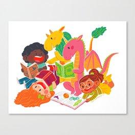 Reading Fun Canvas Print